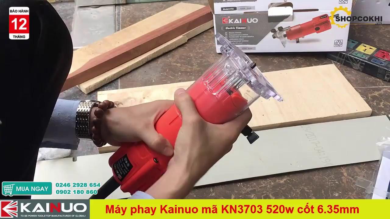 Test thử Máy phay gỗ mini Kainuo KN3703 công suất lớn 520w | Bảo hành 12 tháng giá rẻ chỉ 695k