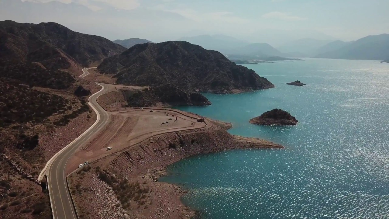 Dique Potrerillos desde un Drone - Potrerillos Dam DroneView Mendoza Argentina