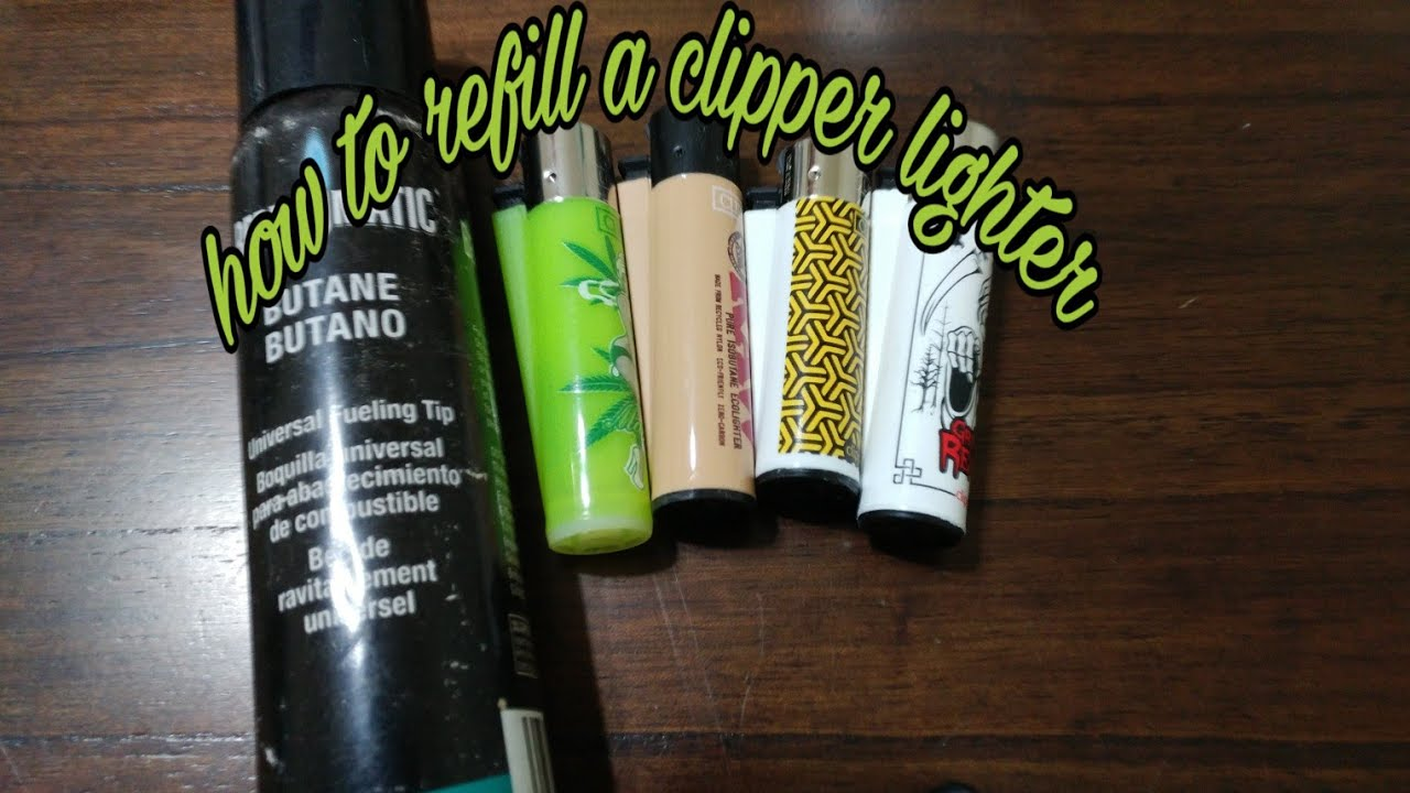 How To Refill A Clipper Lighter Fast Youtube