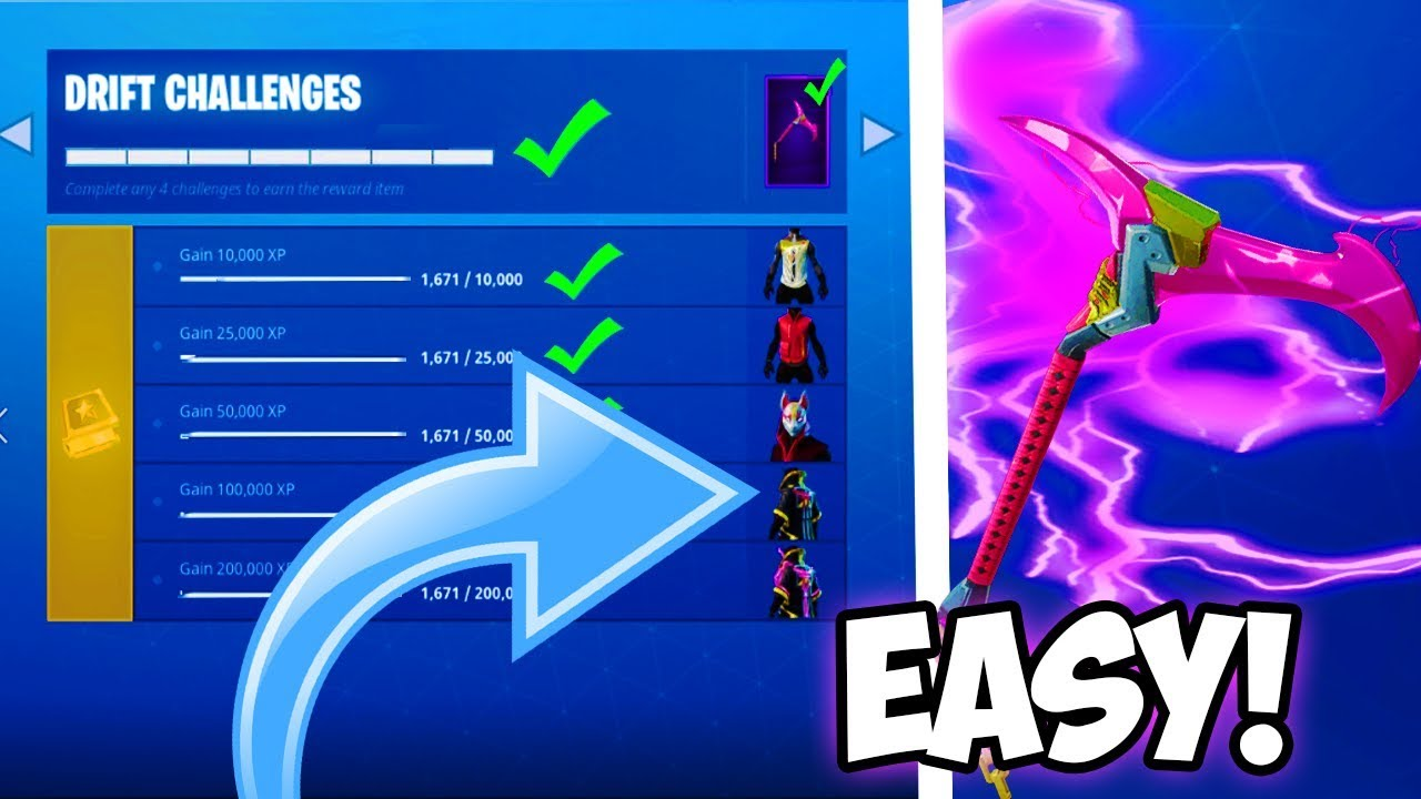 "FASTEST WAY TO UNLOCK ""DRIFT CHALLENGES"" and ""ROAD TRIP CHALLENGES"" in Fortnite!"