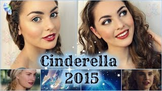 Lily James As Cinderella Makeup Tutorial! Natural & Glam Looks - Jackie Wyers