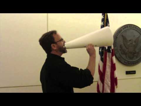 Alex Schaefer protests the Securities and Exchange Commission