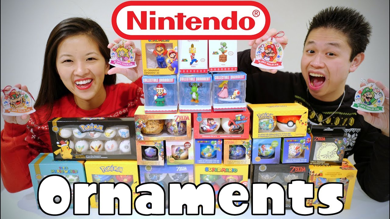 DECORATING for a NINTENDO CHRISTMAS! [Nintendo Ornaments Collection ...