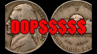 A Simple Mint Mistake Made This Jefferson Nickel Worth Thousands - Silver Transitional Error!