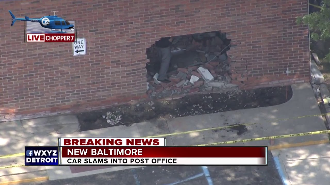 Car into Post Office