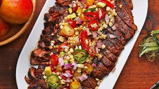 Grilled Flank Steak and Corn Salad
