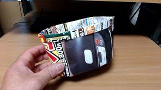 チラシで作った卓上くず箱です。 簡単に折れて超便利なくず箱をぜひマス...