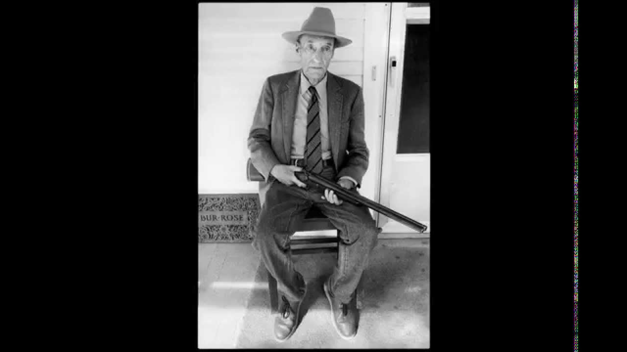 Showstudio photographing william s burroughs william with gun on his front porch
