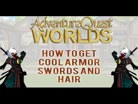 =AQW= How to get Cool Armor, Swords, and Hairstyles