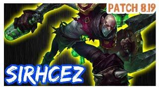 SirhcEz SINGED vs DARIUS SINGED Top FULL Gameplay Patch 8 19