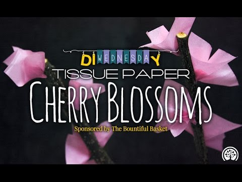 DIY Tissue Paper Cherry Blossom Branches
