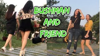 BUSHMAN PRANK.funny bushman and friends in vietnam