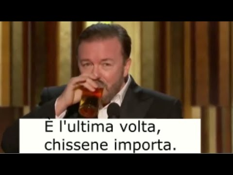 Traduzione ITA di Ricky Gervais al 2020 Golden Globes Awards