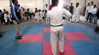 Martial arts karate turna match