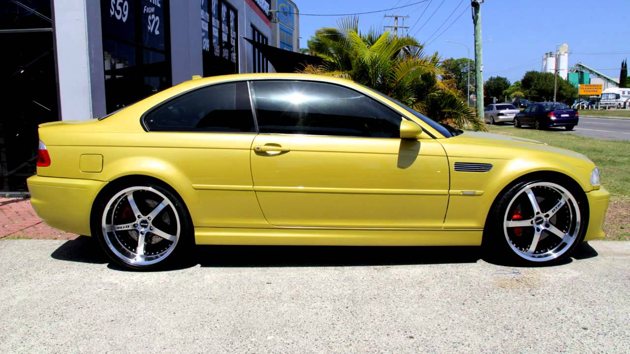 Bmw E46 M4 Rolling 20 Inch Dtm Shine Wheels Staggered