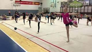 Интересное мастерство с мячом. Художественная гимнастика, УТС в Израиле с Екатериной Пирожковой