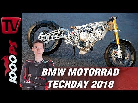 BMW S 1000 RR mit Rahmen aus 3D Drucker! BMW Motorrad Technologie Day 2018