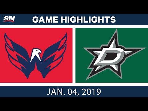 NHL Highlights | Capitals vs. Stars - Jan. 4, 2019