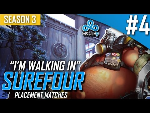 "Overwatch ►C9 Surefour "" I'm going in COACH! "" [Season 3 Placement Match #4]"