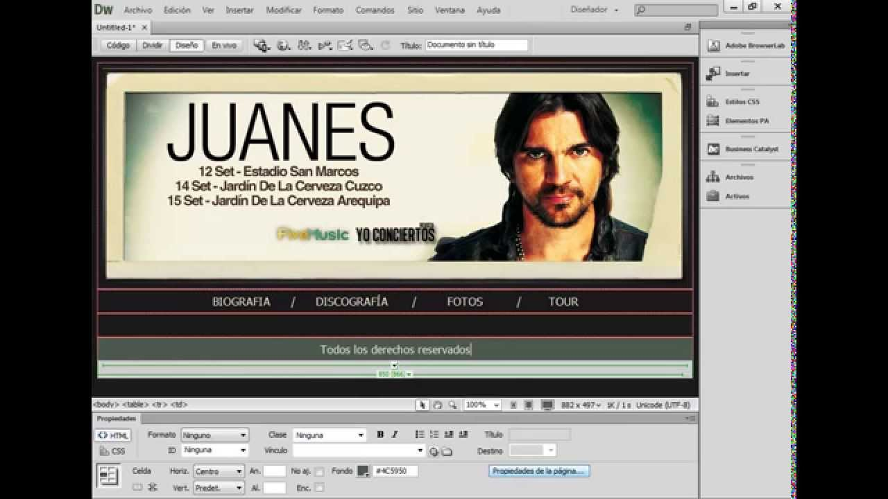 SITIO WEB USANDO PLANTILLAS EN DREAMWEAVER CS6 - YouTube