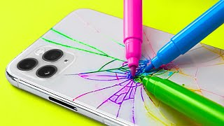 Colorful DIY Phone Case Ideas And Phone Hacks That Will Save Your Money || Repair Tricks And Gadgets