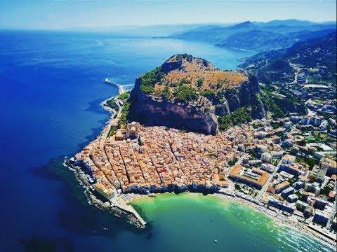 CEFALU SICILY via LAND AIR and SEA 4K *DRONE*