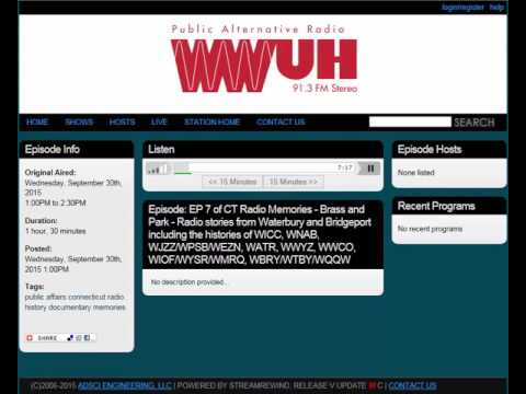 Bridgeport & Waterbury | ep. 7 of Connecticut Radio Memories | 2015 WWUH Documentary