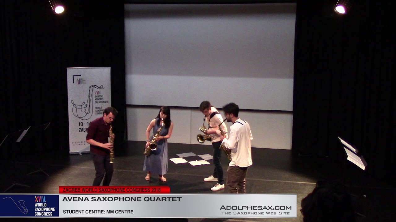 Ciudades by Guillermo Lago    Avena Saxophone Quartet   XVIII World Sax Congress 2018 #adolphesax