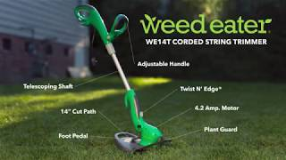 NEW Weed Eater WE14T Corded String Trimmer