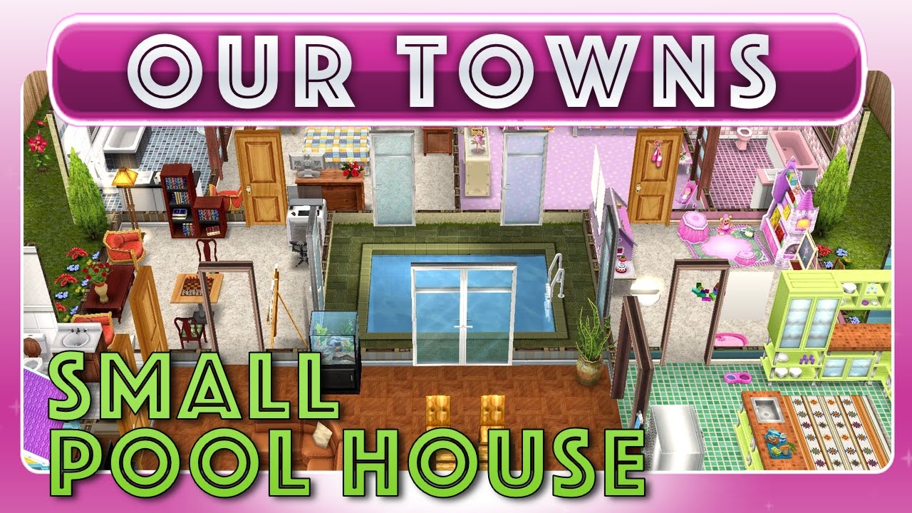 Sims FreePlay Small Indoor Pool House Original House