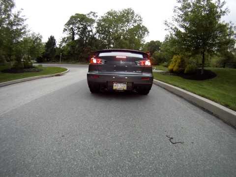 Evo X CP-e Dual Exhaust Driving Around