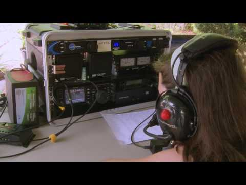 KM4TXT working WA1J in the Florida QSO Party - SOLAR POWER