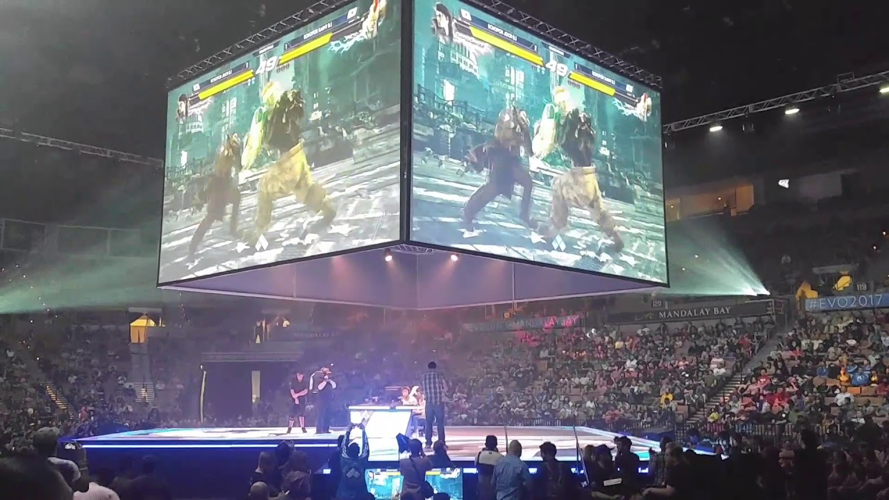 Evo 2017 Live Tekken 7 Grand Finals Jdcr Vs Saint With Crowd Reaction