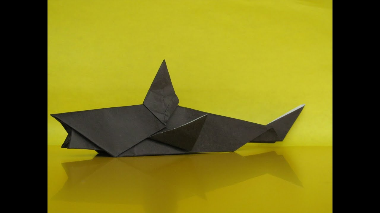 origami shark how to make a paper shark