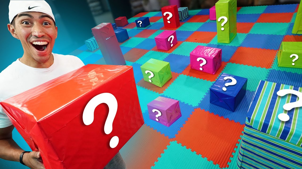 Nerf Mystery Box Board Game Challenge Youtube