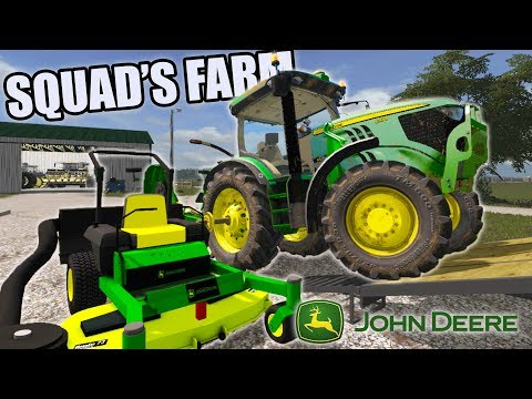 MOWING SQUADS FARM! | JOHN DEERE 6R | BIG WORK DAY | FARMING SIMULATOR 2017