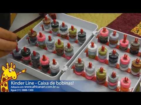 Kinder line porta bobinas e organizador de linhas youtube for Porta kinder