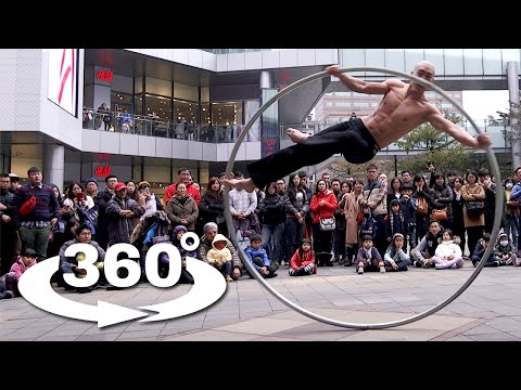 Taiwan's Ring Man 360° - Experience One Of The Most Awesome Street Performances in 360° VR! (4k)