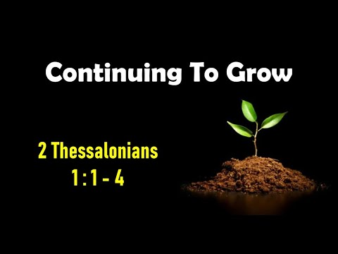 Continuing To Grow