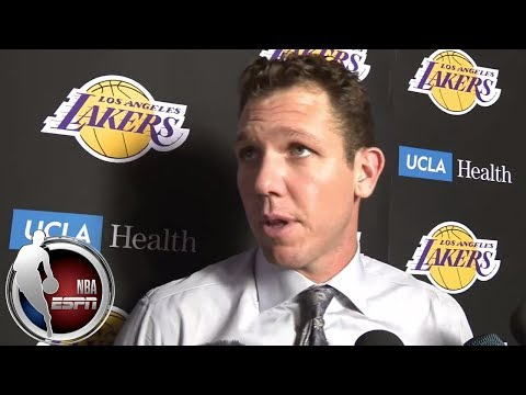 Luke Walton on LeBron's minutes after Lakers' loss to Spurs | NBA on ESPN