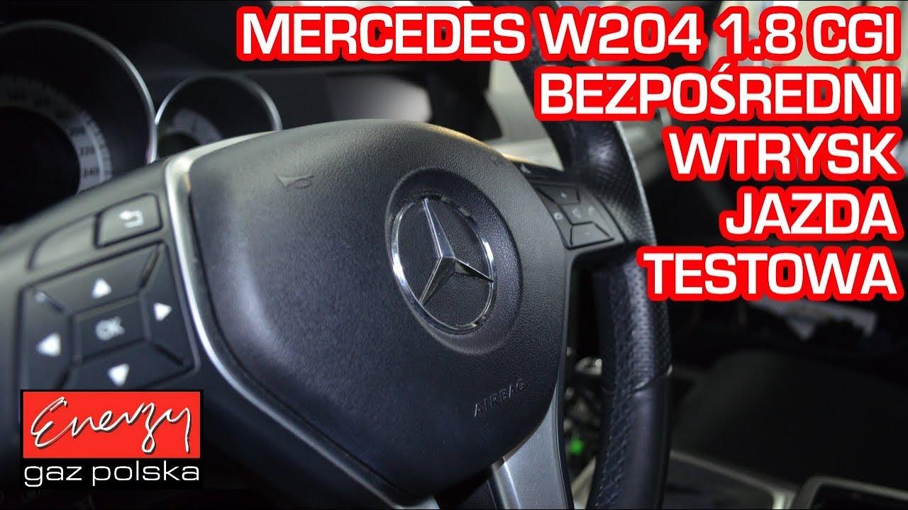 Jazda próbna testowa: Test LPG Mercedes 1.8 CGI 2012r bezpośredni wtrysk w Energy Gaz na autogaz KME