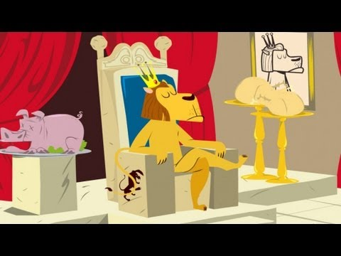 Le Lion Et Le Rat Les Fables De La Fontaine En Dessin Animé