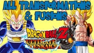 dragon ball z ultimate tenkaichi all transformations and fusions hd