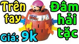 Trên tay đồ chơi xả stress đâm hải tặc vui nhộn giá 9k