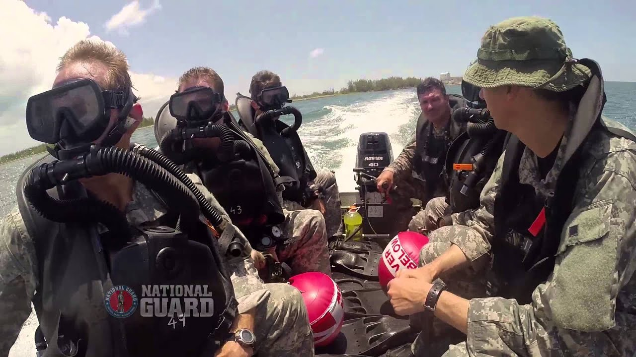 National Guard Special Forces Combat Divers Train at Underwater ...