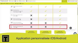 Application personnalisée iOS / Android