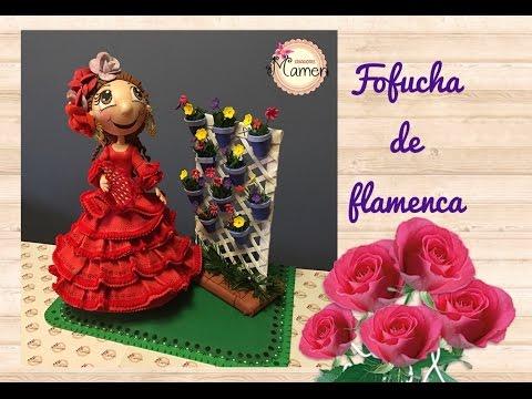 🌷1 Parte Fofucha de flamenca paso a paso hecha con gomaeva. Creaciones Mamen💟🌷💟