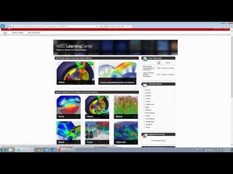 The MSC Learning Center -- MSC Nastran Online Training for Engineers