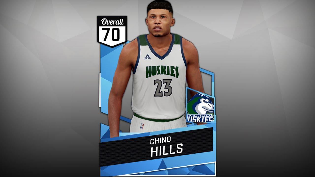 21d923bef NBA 2K16 Chino Hills Huskies Highschool Jersey Tutorial - YouTube