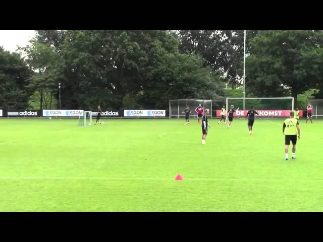 Séance entrainement football - AJAX AMSTERDAM - Jeu à 8 contre 8 - Attaque placée